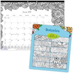 Blueline 2021 Doodle Plan Desk Calendar