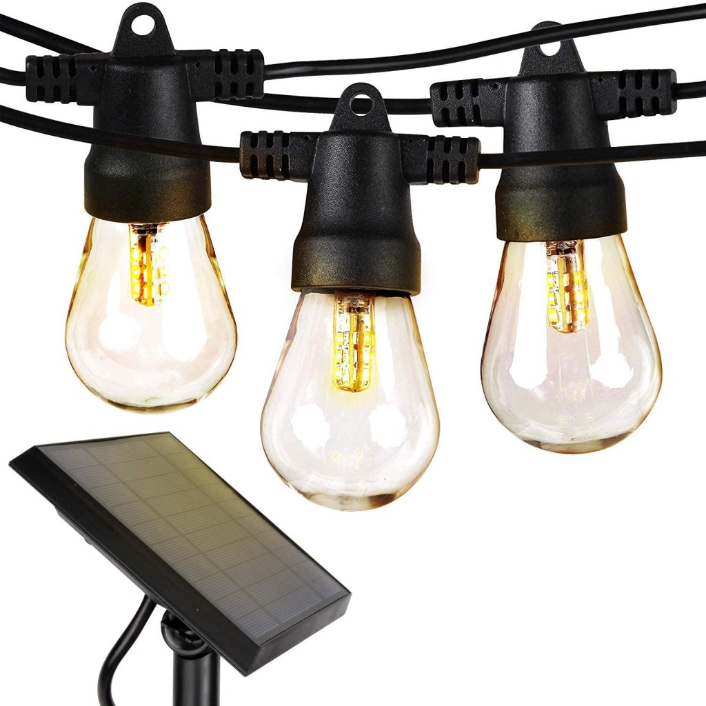 Brightech Ambience Pro - Waterproof, Solar Powered Outdoor String Lights