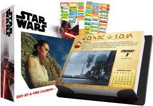 date works star wars desk calendar
