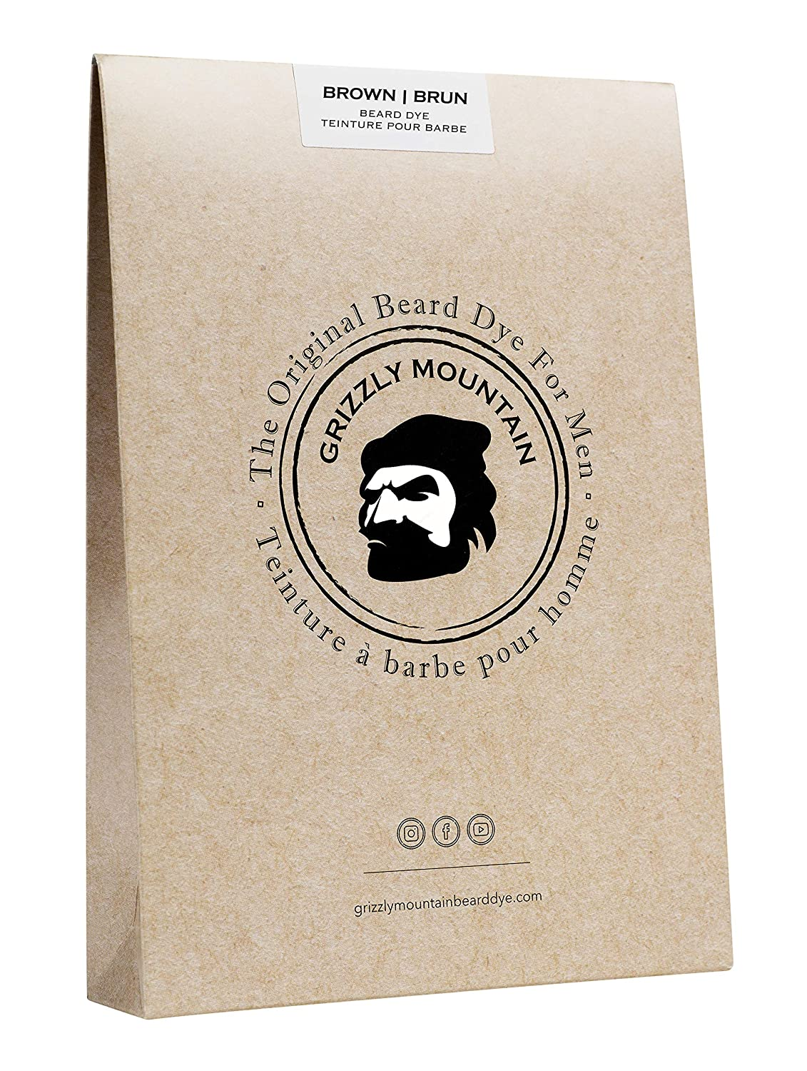 grizzly mountain beard and hair dye for men