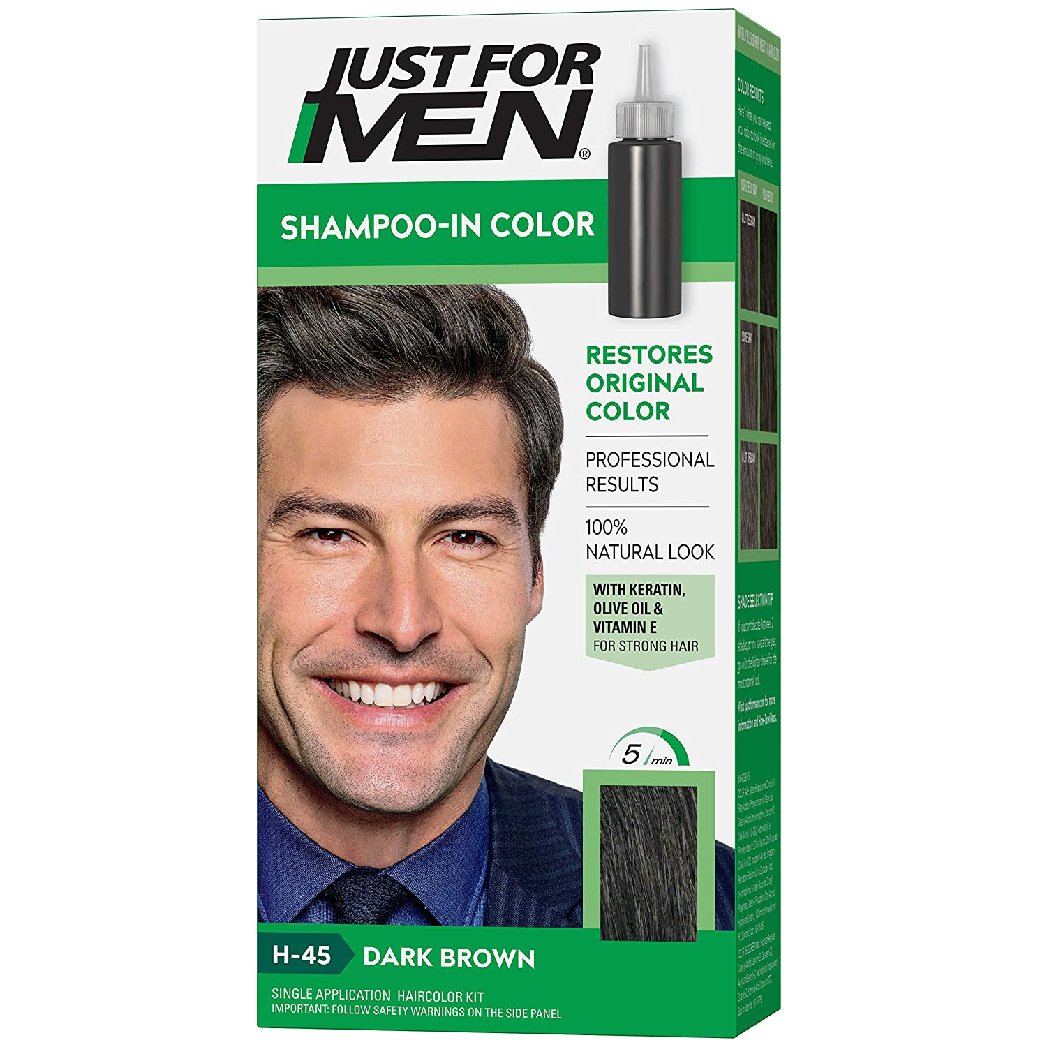 just for men shampoo in color
