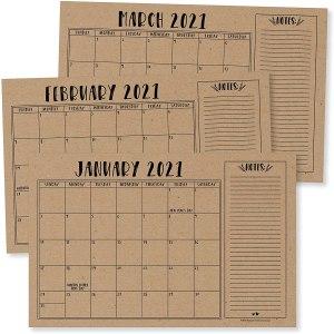 desk calendars rustic kraft