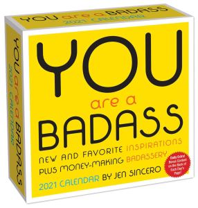 you are a badass day to day desk calendar
