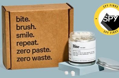 bite toothpaste bits