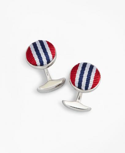 Brooks Brothers Rep Stripe Cufflinks