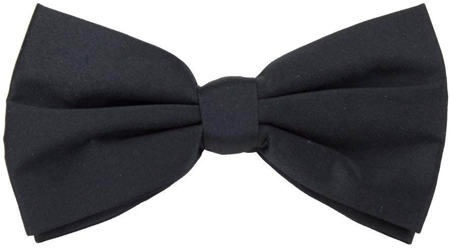 Brybelly Formal Black Casino and Poker Dealer Clip On Bow Tie