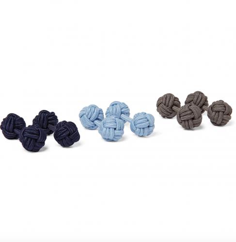 Charvet Set of Three Knotted Cufflinks