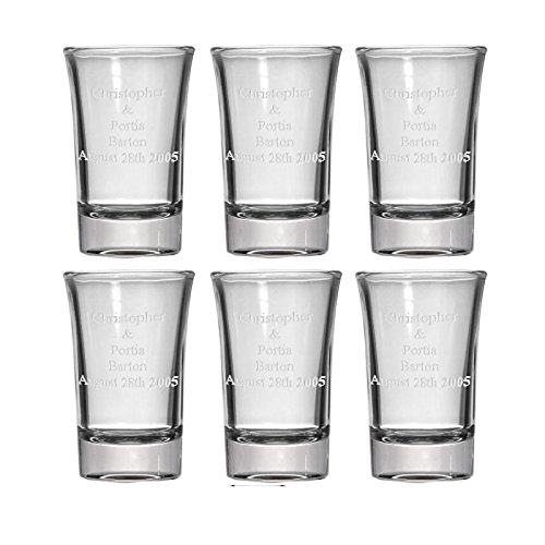 CKB Products Personalized Set of 6 Shot Glasses
