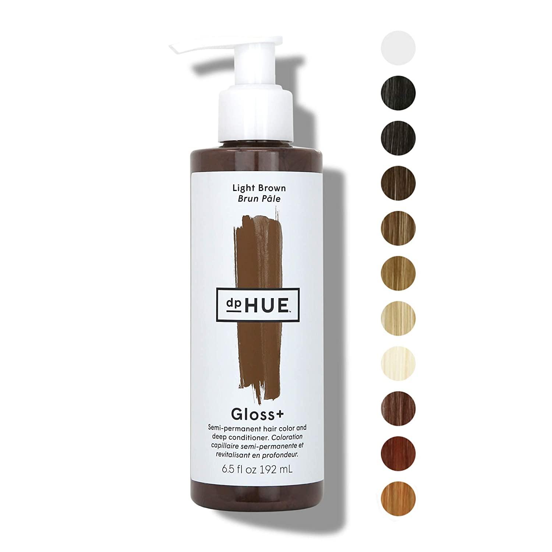 dpHue gloss light brown color boosting semi permanent hair dye