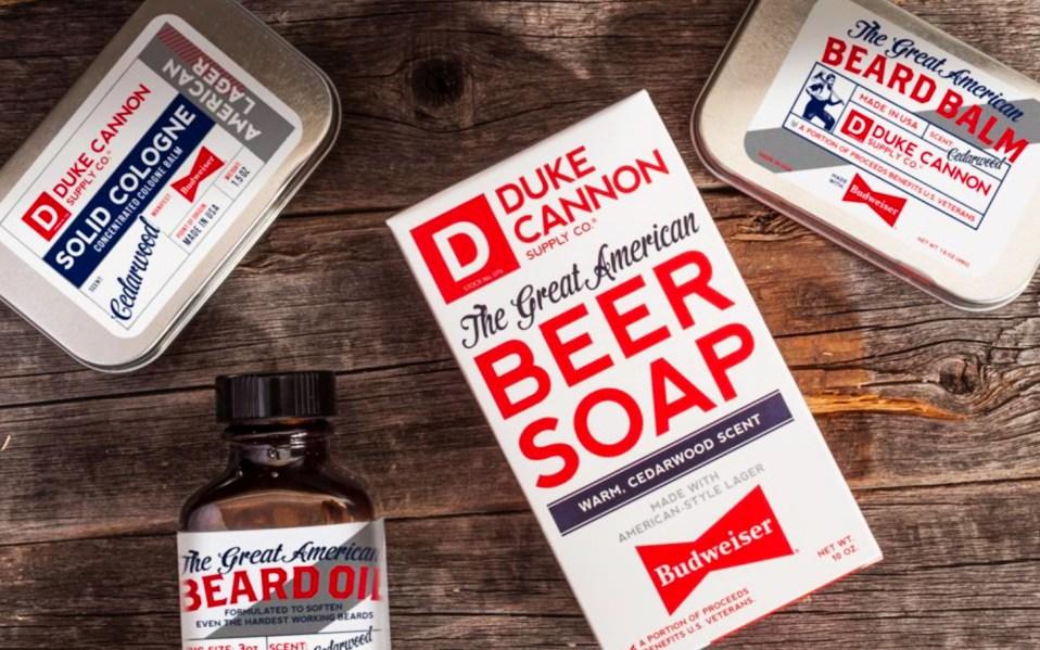 duke cannon budweiser beer soap