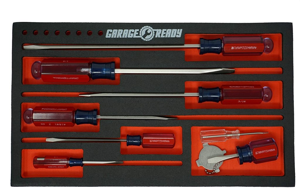 tool box organizers garage ready screwdriver