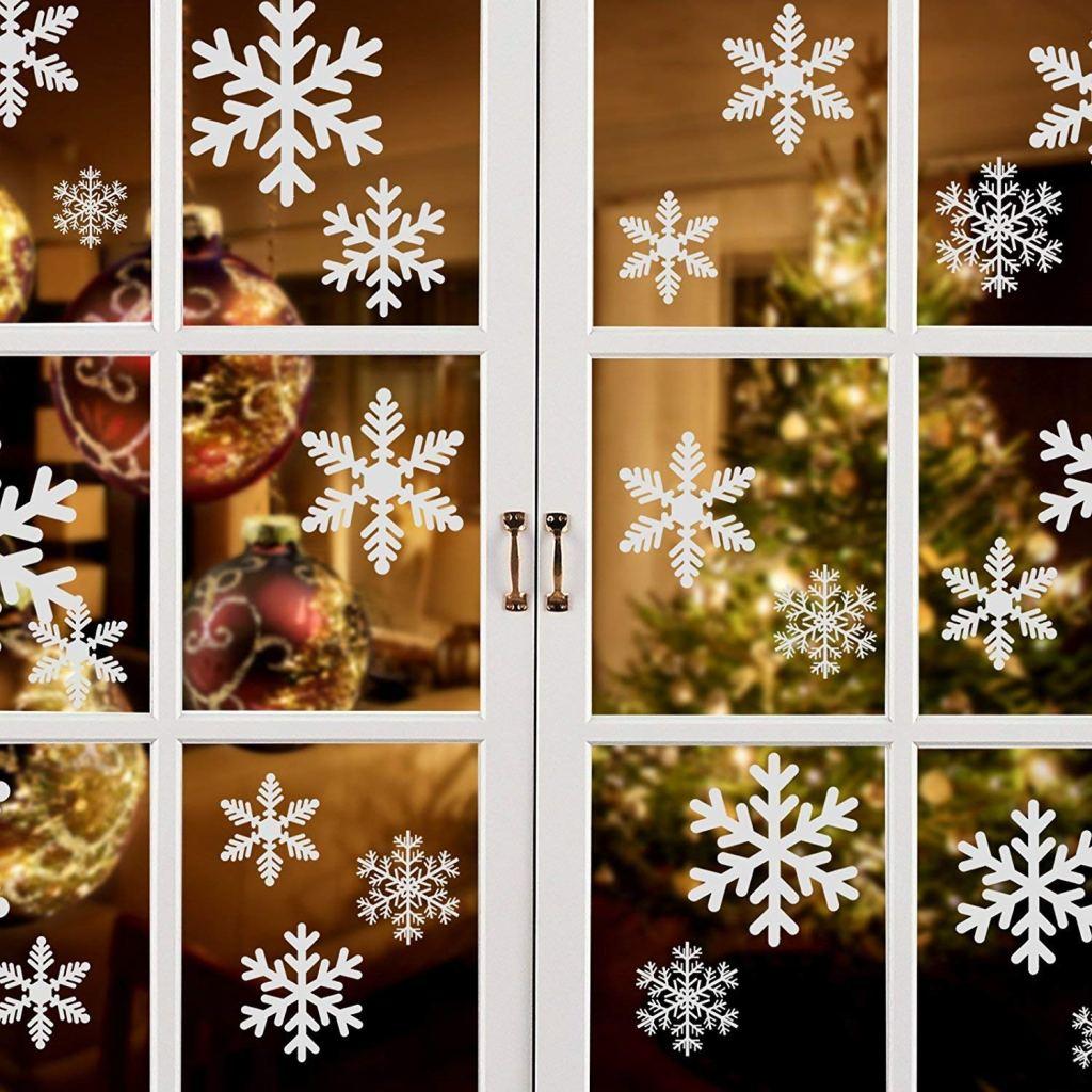 garma snowflake window clings