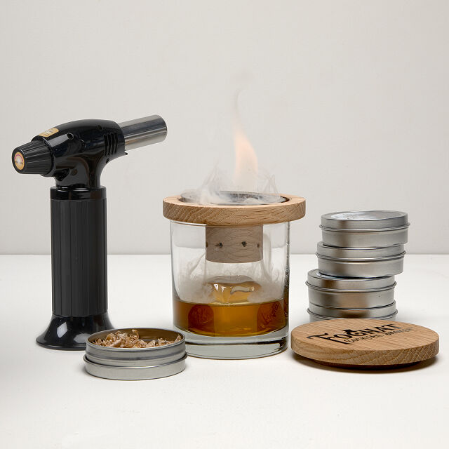 glass topper cocktail smoker, birthday gifts for him