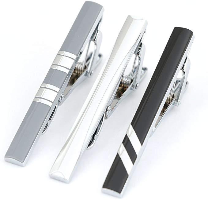 GWD Mens 3 Piece Tie Bar Clip