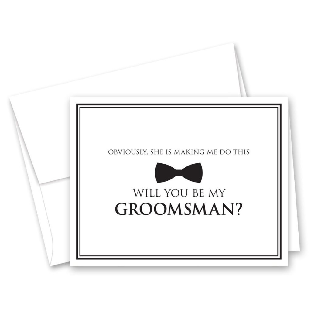 Invitation House Bow Tie Groomsman Proposal Cards