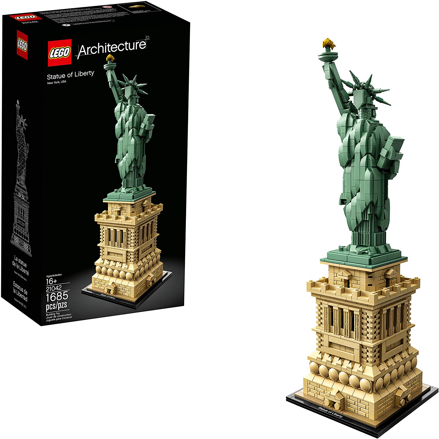 best legos for adults: LEGO Architecture Statue of Liberty Building Kit