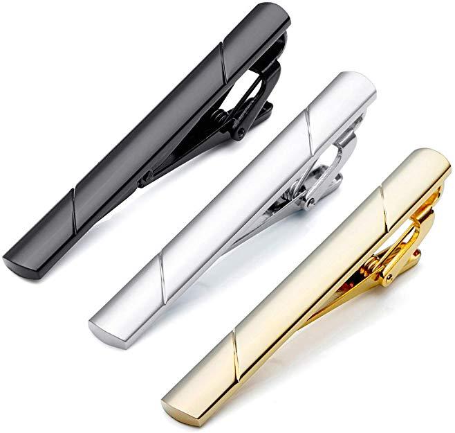 PiercingJ 3 Piece Set Stainless Steel Exquisite GQ Classic Tie
