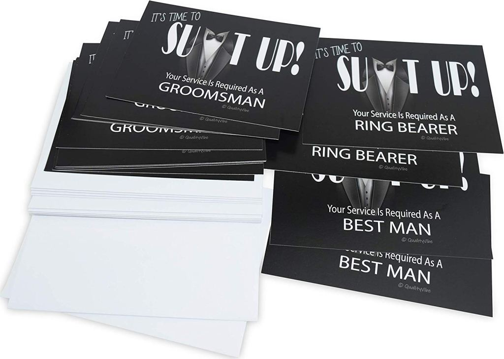 Quality Vibe Groomsmen Proposal Cards