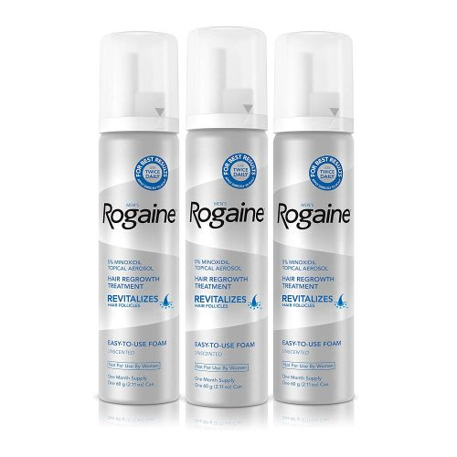 Rogaine 5% Minoxidil Foam Hair Loss Treatment