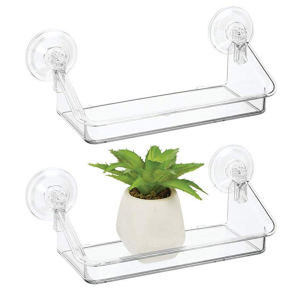 mDesign suction cup shelves
