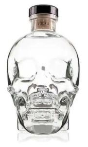 skull bottle vodka crystal head