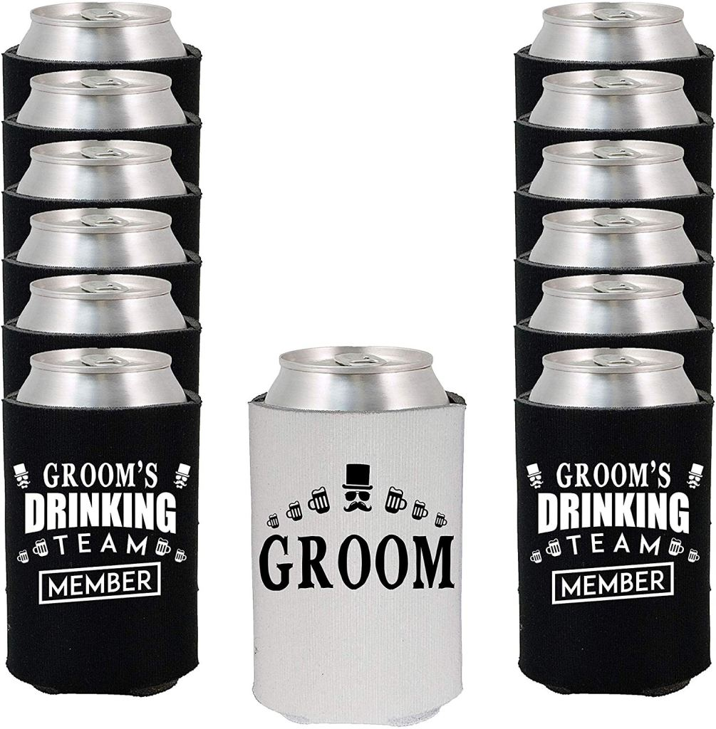 Shop4Ever Groom and Groom's Drinking Team 'Member' Can Coolie Wedding Drink Coolers