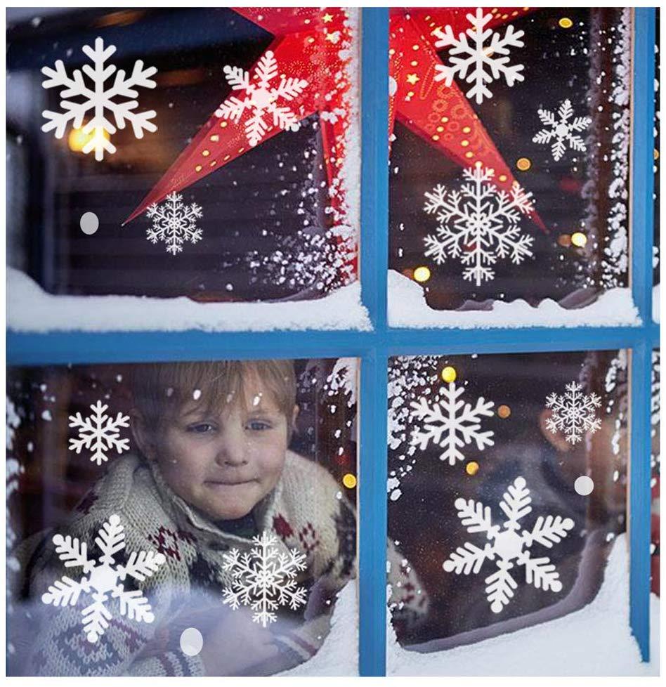 sunboom snowflake window clings