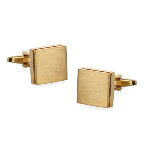 The Tie Bar Gold Texture Sweep Cufflinks