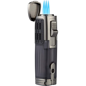 TOMOLO Torch Lighter With Cigar Punch