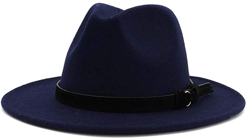 Lisianthus Men & Women Vintage Wide Brim Fedora Hat