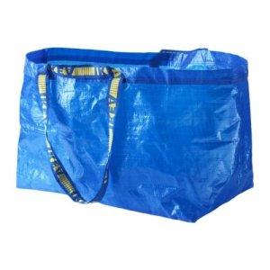 blue ikea bag shopping