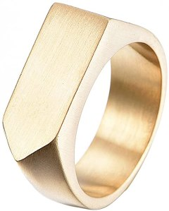 Lanhi Men's Simple Signet Ring