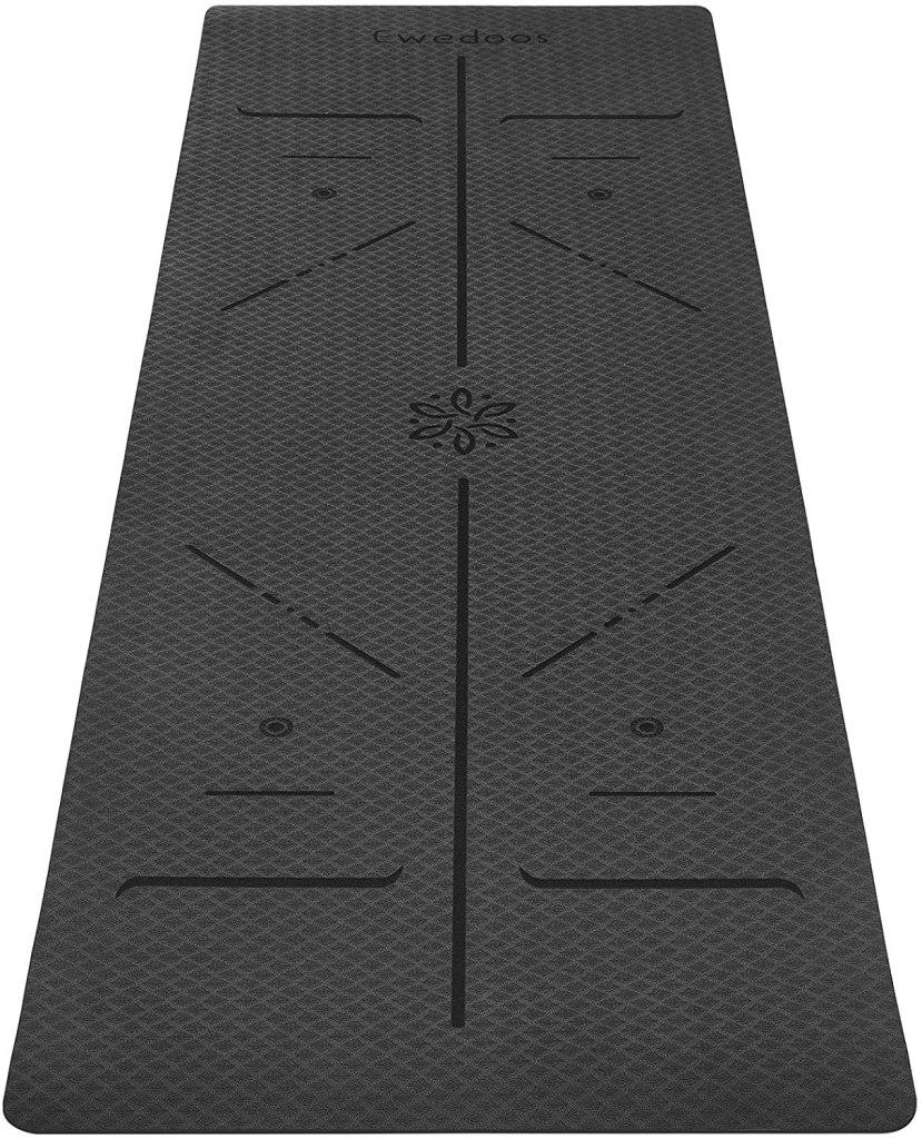 Ewedoos Eco-Friendly Yoga Mat with Alignment Lines