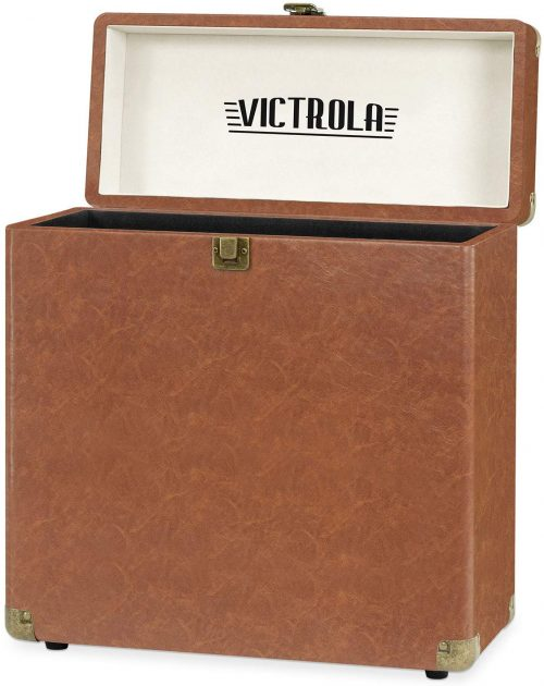 Picture of the open Victrola vinyl record box.