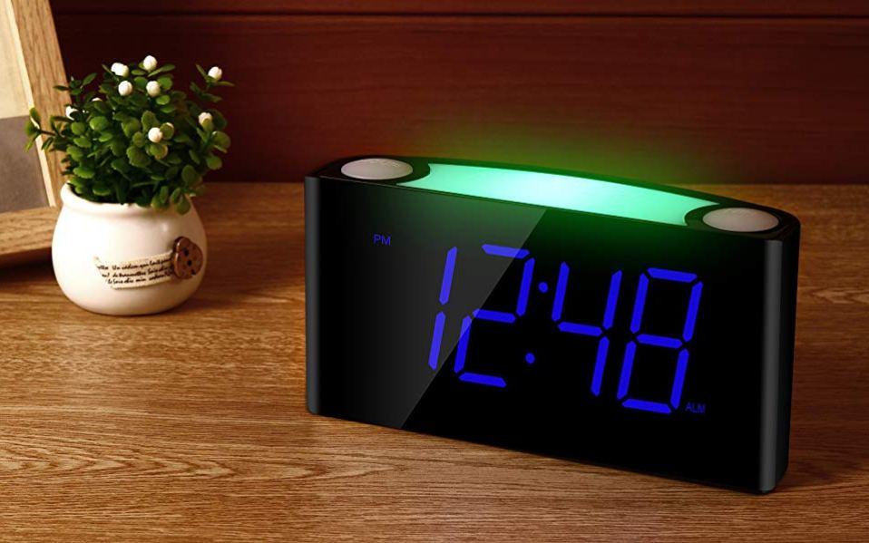 best alarm clock night light