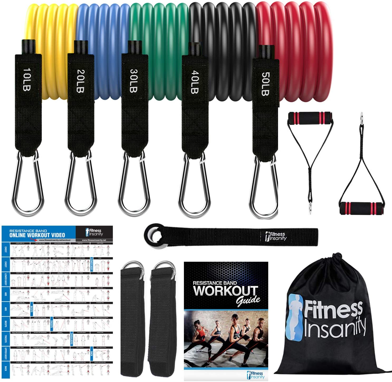Fitness Insanity Resistance Bands, best resistance bands