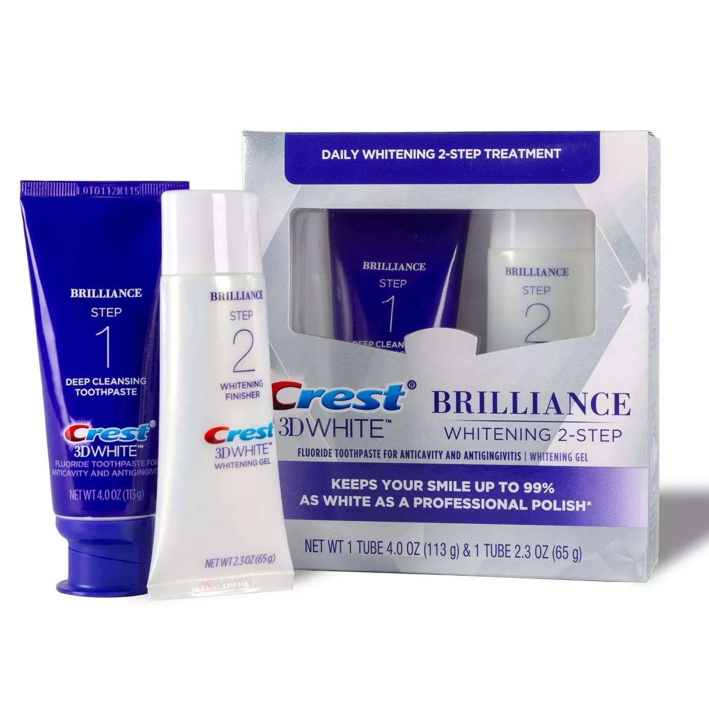 Crest 3D White Brilliance 2 Step Kit