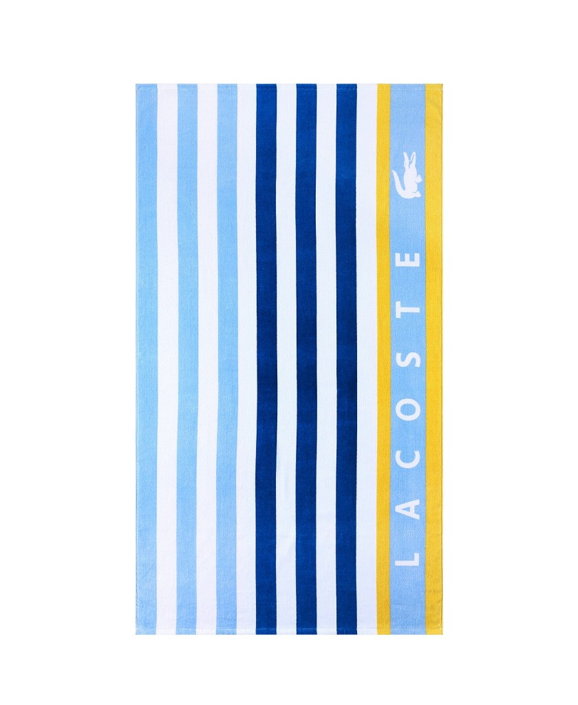 Lacoste Boardwalk Cotton Stripe Beach Towel