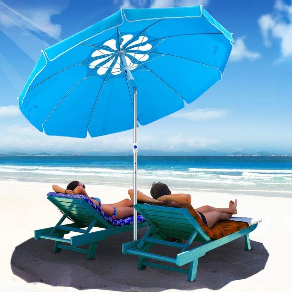 MOVTOTOP 6.5ft Beach Umbrella