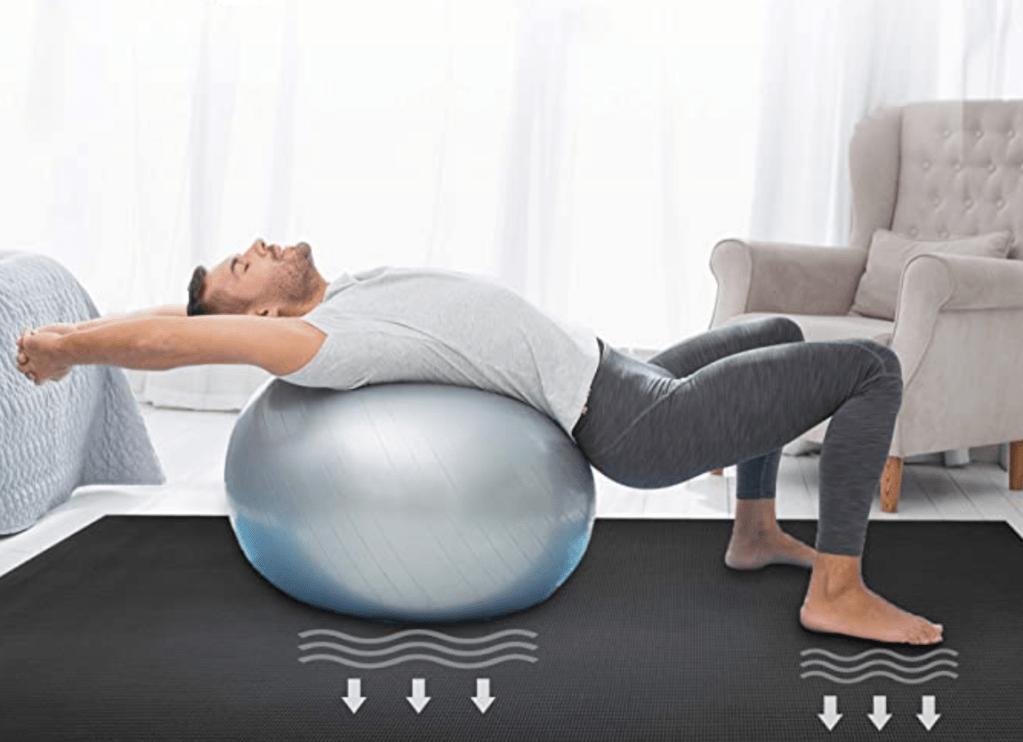 Man On Wide Yoga Mat