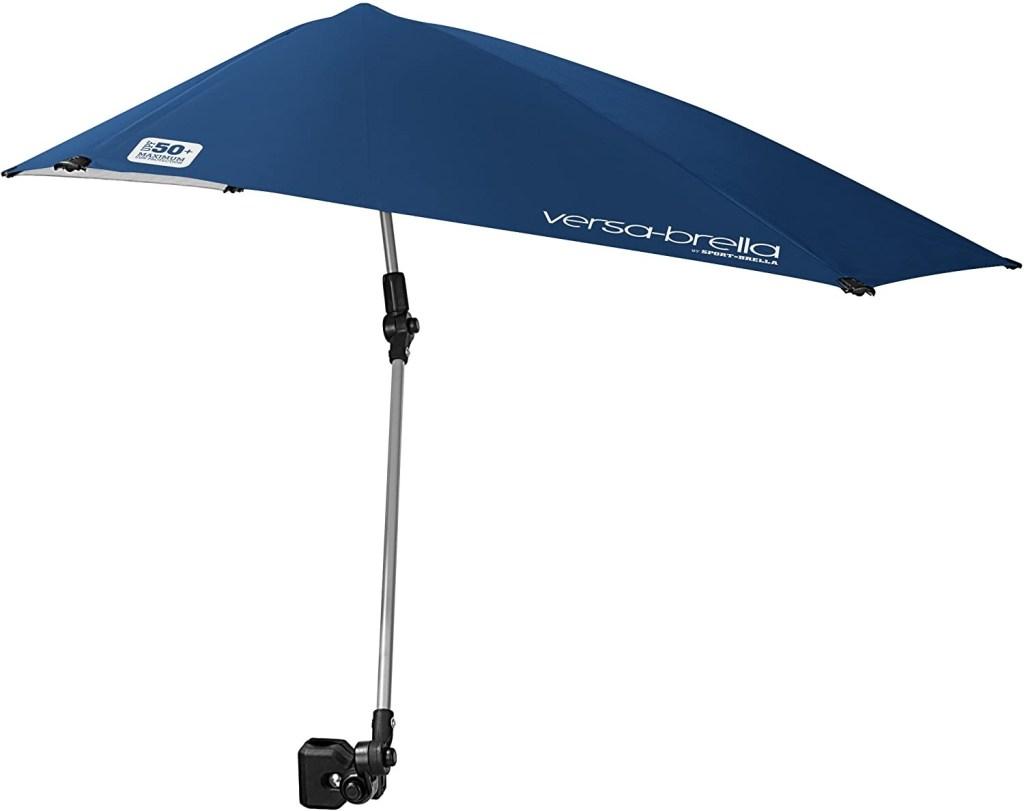 Sport-Brella Versa-Brella SPF 50+ Adjustable Beach Umbrella with Universal Clamp
