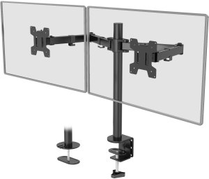 best dual monitor stands- WALI Dual Monitor Adjustable Desk Mount Stand