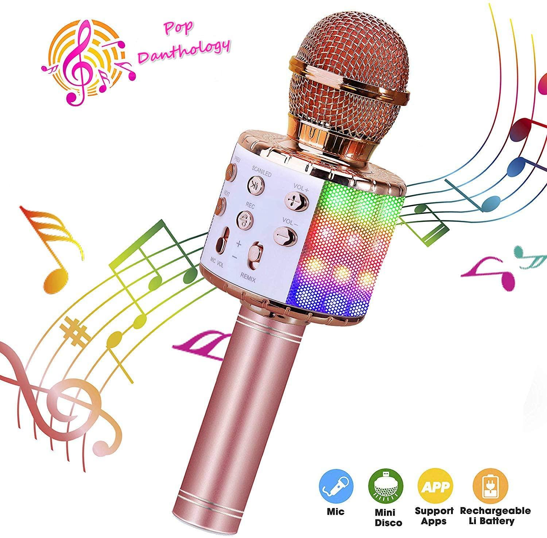 ShinePick Wireless Bluetooth Karaoke Microphone