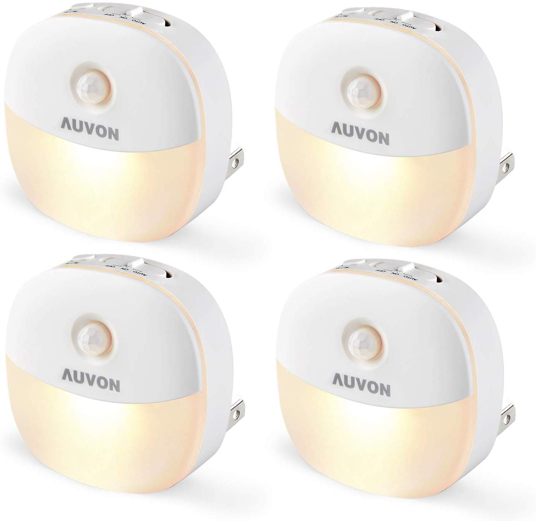 AUVON Plug-in LED Motion Sensor Night Light