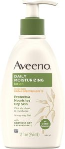 Aveeno daily body lotion with SPF