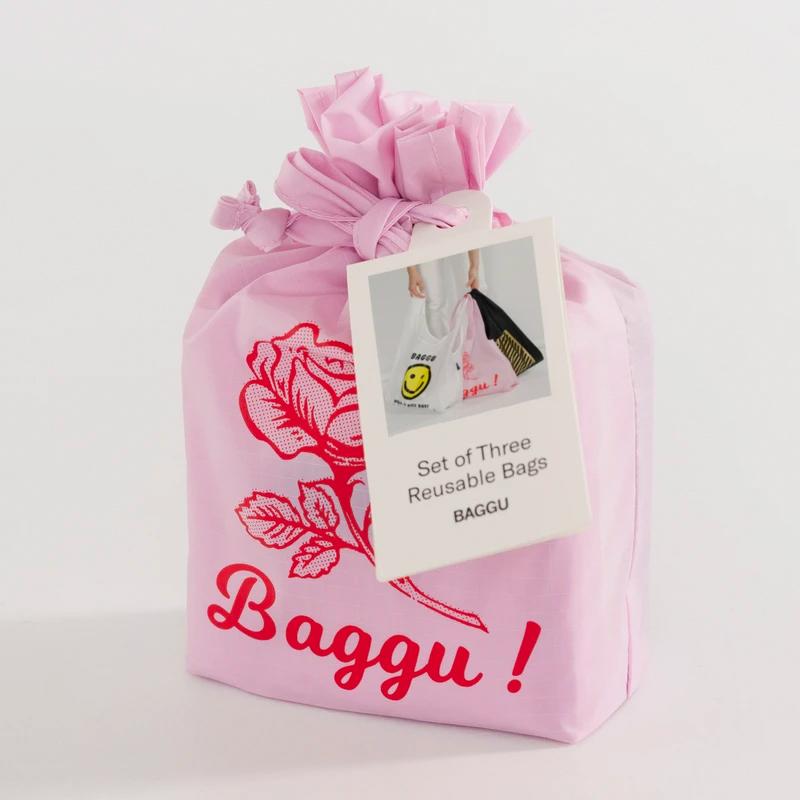 baggu reusable tote bag set