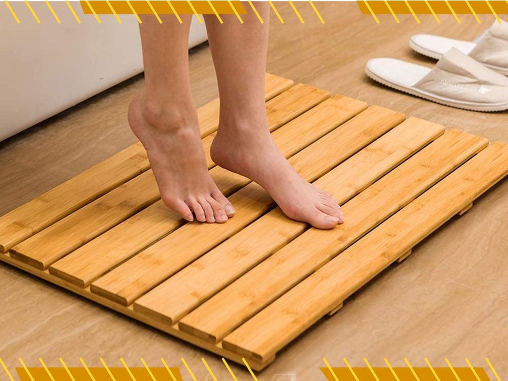 A Bamboo Shower Mat, Can Bamboo Rugs Be Used Outdoors