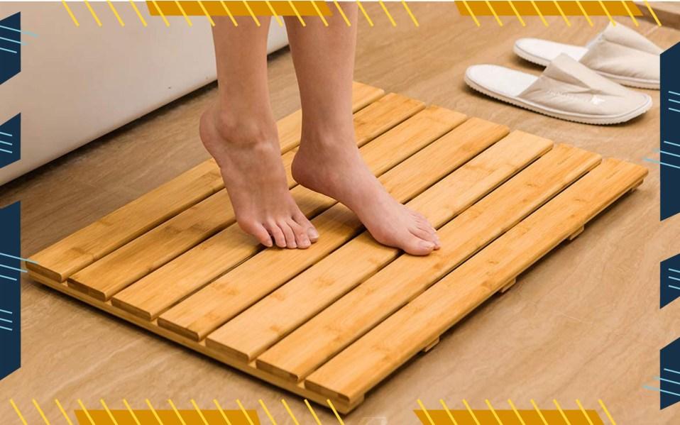 bamboo shower mats