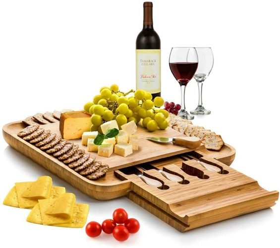 best gifts for mom - Bambusi Cheese Board and Knife Set