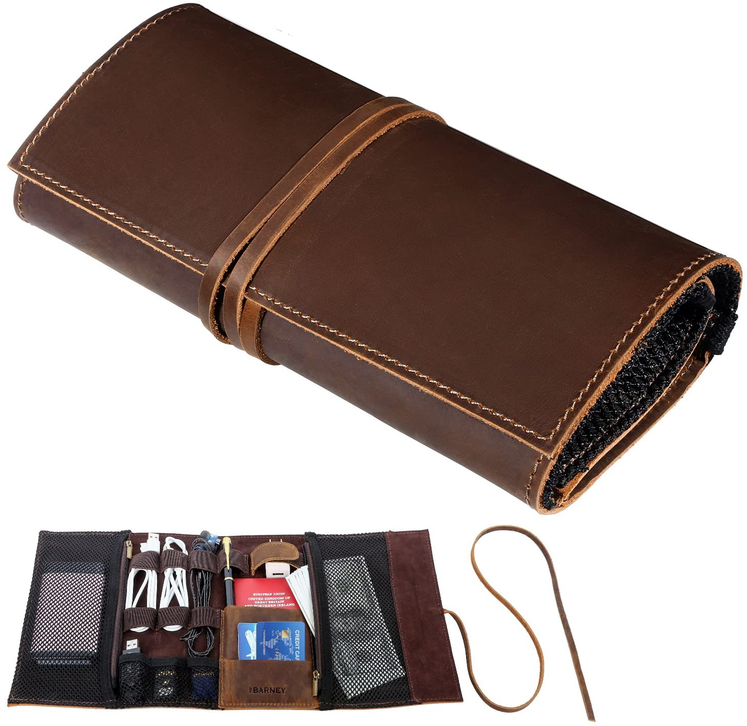 Barney Genuine Crazy Horse Leather Electronics Organizer